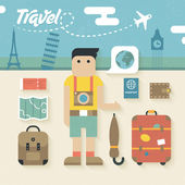 Travel Holiday Icons — Stock Vector