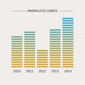 Minimalistic Charts — Stock Vector