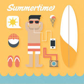 Summer Holiday Icons — Stock Vector