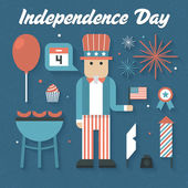 Independence Day Icons — Stock Vector