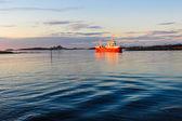 Ship on the sea — Stockfoto