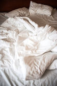 Unmade bed — Stock Photo