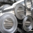Stock Photo: Aluminium rolls