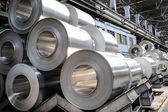 Aluminium rolls — Stock Photo