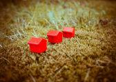 Casas com telhados vermelhos — Foto Stock