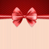 Background with bow — Stock Vector