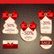 Set for decoration of holiday discounts — Image vectorielle
