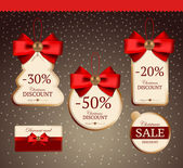 Set for decoration of holiday discounts — Stockvector