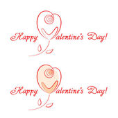 Congratulations for Valentine's Day — Vettoriale Stock