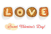 Cakes for a loved one — Stock Vector