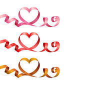 Ribbons with heart — Stock Vector