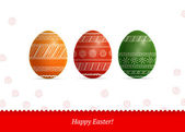 Easter colorful eggs with pattern — Stock Vector