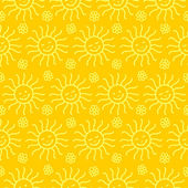 Seamless sunny pattern — Stock Vector