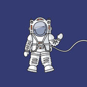 Astronaut in space — Stockvektor
