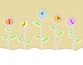 Background with clocks — Stock Vector