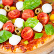 Pizztomato mozzarella — Stock Photo #38172111