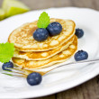 Blueberry pancakes — Stock Photo #38178629