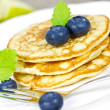 Blueberry pancakes — Stock Photo #38178641