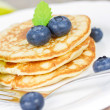 Blueberry pancakes — Stock Photo #38178655