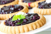 Blueberry tarts — Stock Photo
