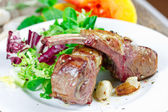 Grilled lamb ribs — Fotografia Stock
