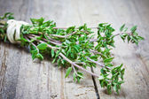Thyme on table — Stock Photo