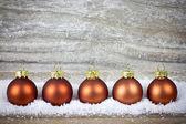 рождественские шары — Стоковое фото