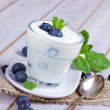 Yogurt with blueberries — Stock Photo #39095603