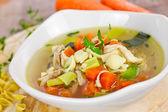 Sopa de pollo — Foto de Stock