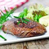 Grilles steak — Stock Photo
