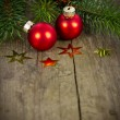 Red xmas balls — Stock Photo #39528109
