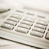 Калькулятор расчеты — Стоковое фото