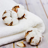 Cotton towel — Stock Photo