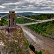 Panoramic photo of Clifton Suspension Bridge — Stock Photo