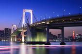 Tokyo Rainbow Bridge With Tokyo Tower — Stock Photo