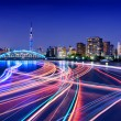 Sumida River Light Trails, Tokyo — Stock Photo #33159585