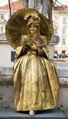 青銅色の女の子 — ストック写真