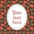 Card template with hearts — Stock vektor