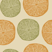 Citrus pattern — Vetor de Stock
