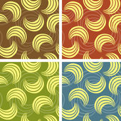 Set of abstract pattern — Stock Vector