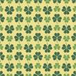 St. Patrick's day pattern with clover — Stockvectorbeeld