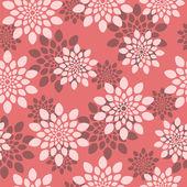 Red floral pattern — Cтоковый вектор