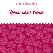 Card with hearts pattern — Stock Vector