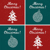 Christmas cards — Vector de stock
