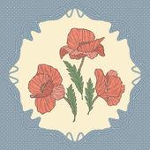 Poppy card — Stock Vector
