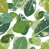 Beautiful seamless pattern with leaves — Vecteur