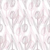 Tulip pattern — Stock Vector