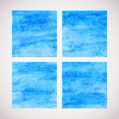 Painted vector card. Watercolor squares. — ストックベクタ