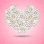 Romantic floral heart — Stock Vector #45996453