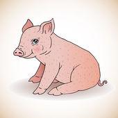 Cute little pig — Stock Vector